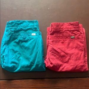 Two pairs of brand new vans shorts